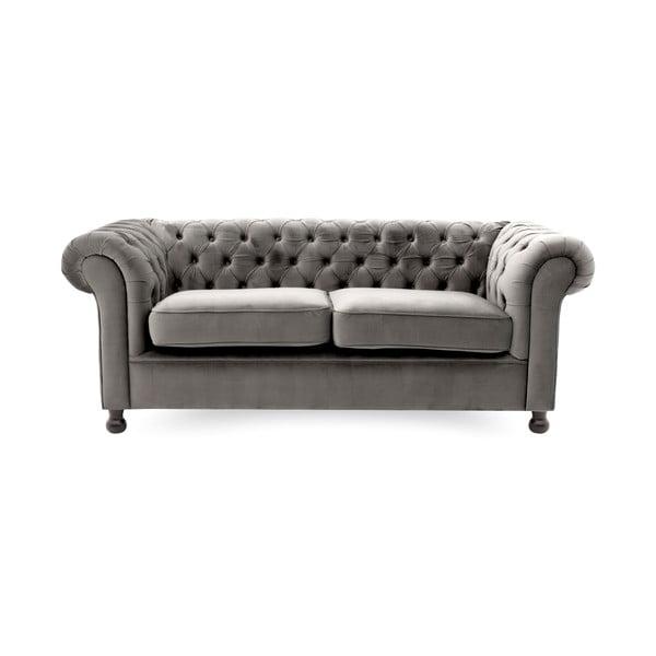 Canapea 3 locuri Vivonita Chesterfield, gri