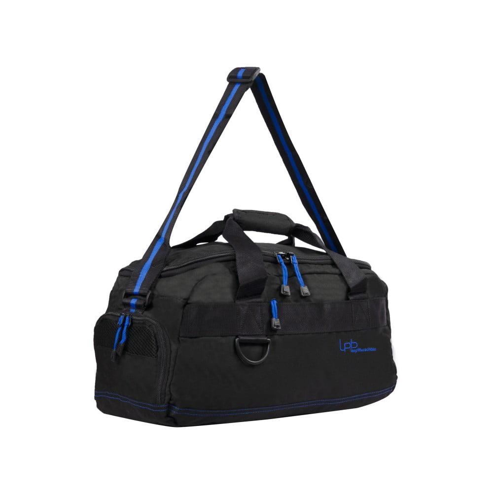Černá cestovní taška s modrým lemem Les P'tites Bombes Toulouse