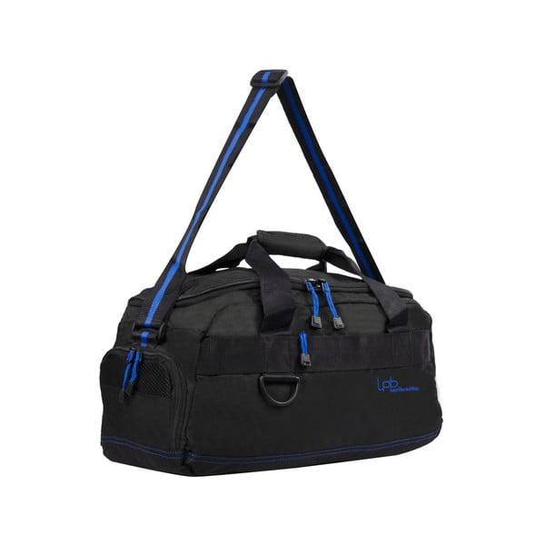 Czarna torba podróżna z niebieską lamówką Les P'tites Bombes Toulouse