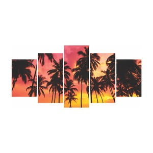 Vícedílný obraz La Maison Des Couleurs Palmtrees