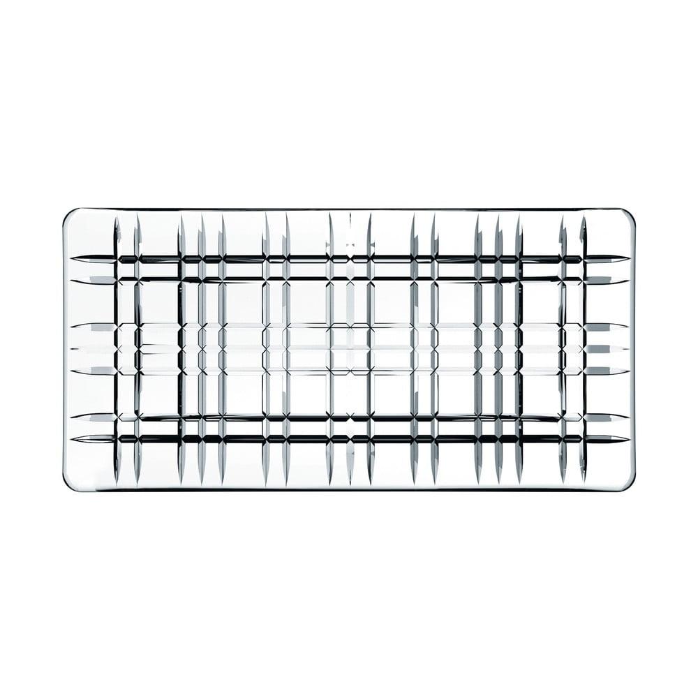 Čtvercový servírovací tác z křišťálového skla Nachtmann Square Plate, délka 28 cm