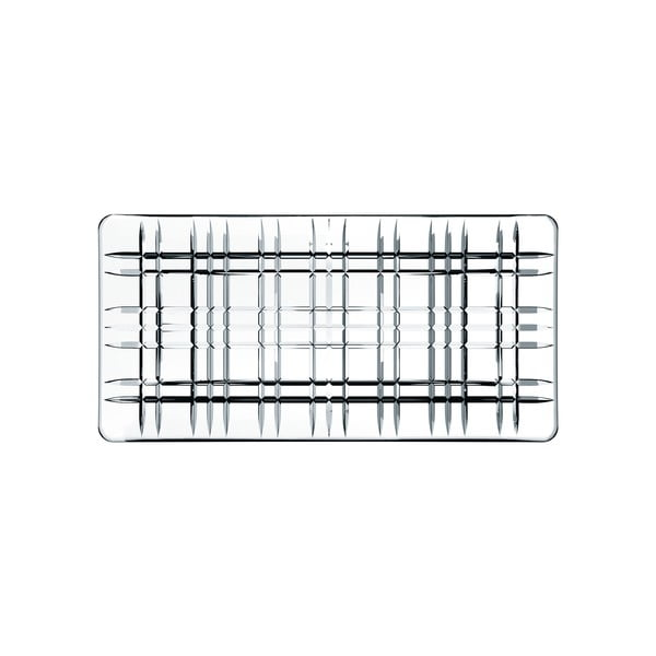 Obdélníkový servírovací tác z křišťálového skla Nachtmann Square Plate, délka 28 cm