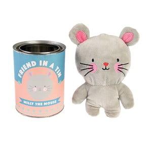 Plyšová hračka v plechové krabičce Rex London Milly The Mouse