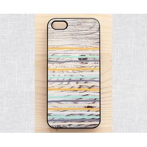Obal na iPhone 4/4S, Rustic Wood Stripes/black