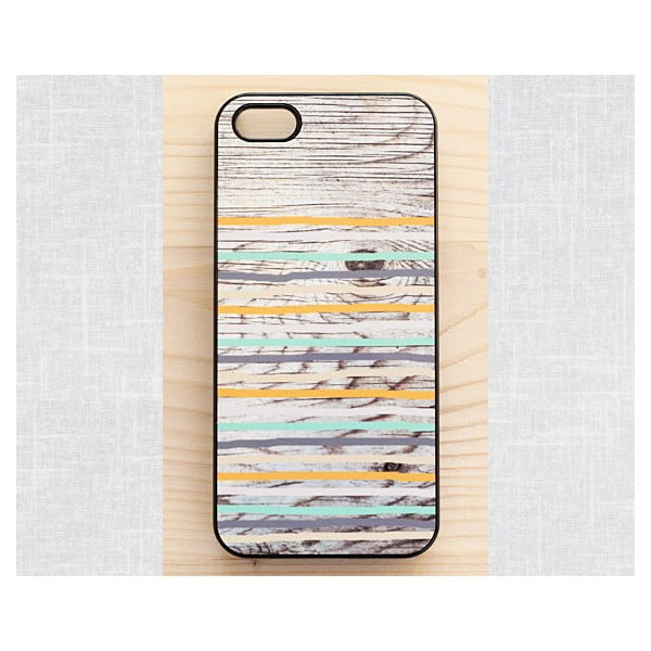 Obal na Samsung Galaxy S4, Rustic Wood Stripes/black