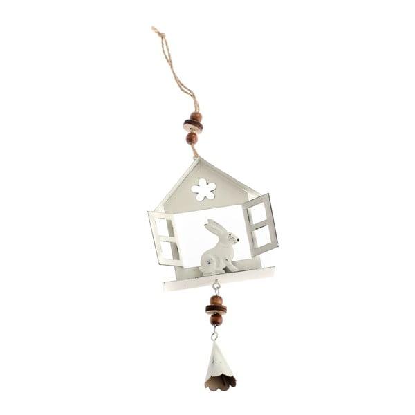 Biała metalowa dekroacja wisząca Dakls Hare