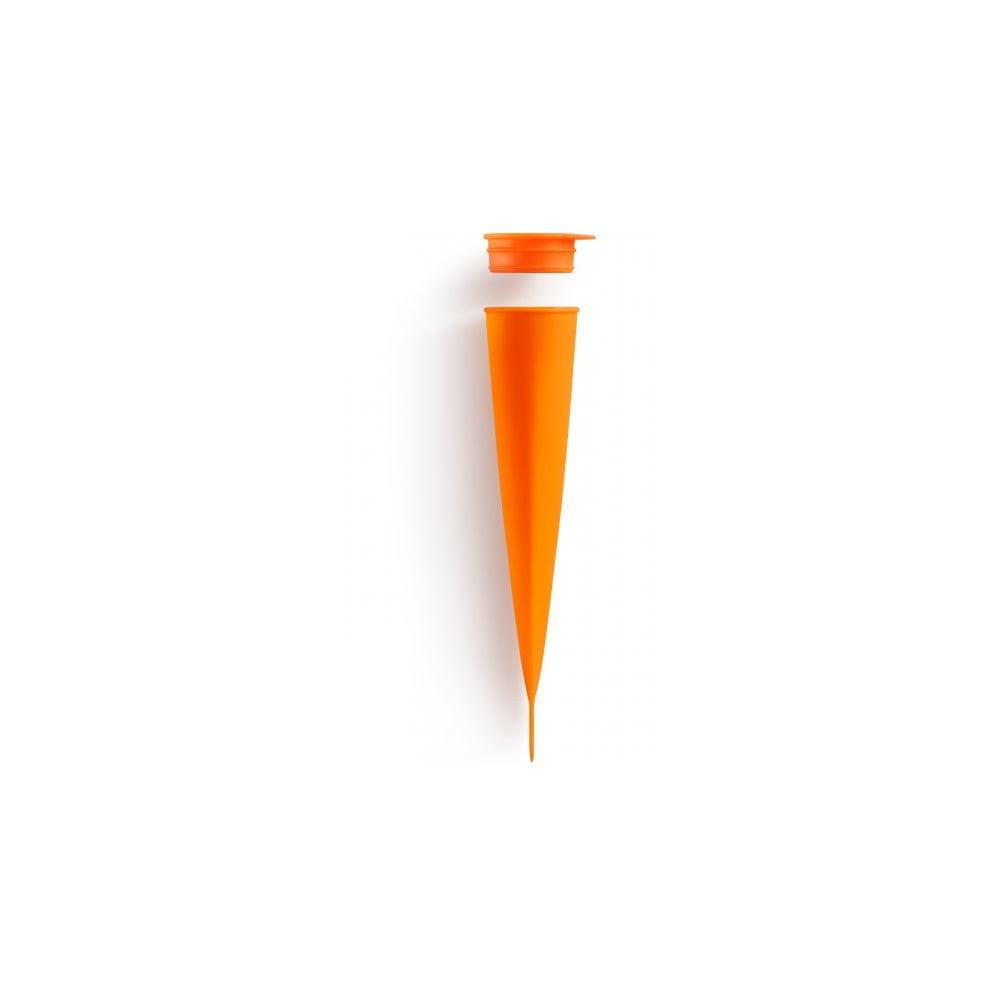 Oranžová silikonová forma na nanuky Lékué Pop