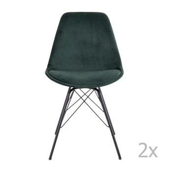 Set 2 scaune House Nordic Oslo, verde închis imagine