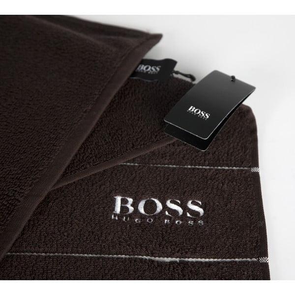 Ručník Hugo Boss Plain 70x140 cm, čokoládový