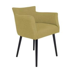 Žlutá židle s područkami Windsor & Co Sofas Gemini