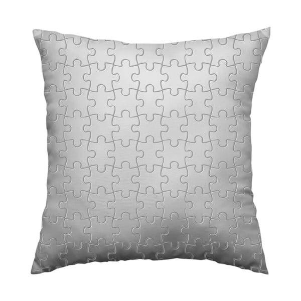Polštář Grey Puzzle, 40x40 cm