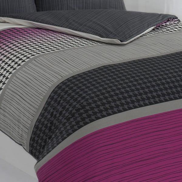 Povlečení s polštářem Sarita Purple, na jednolůžko, 135x200 cm