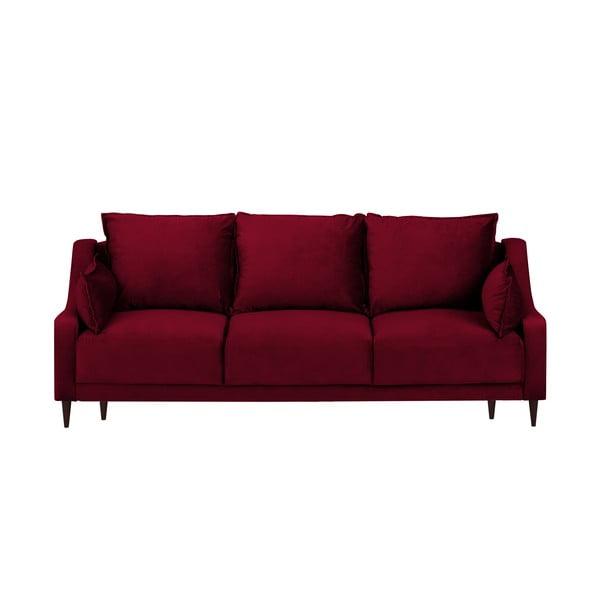 Canapea extensibilă cu 3 locuri și spațiu de depozitare Mazzini Sofas Freesia, roșu