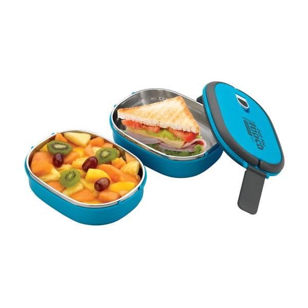 Modrá dvojitá miska na oběd Pioneer Lunchbox