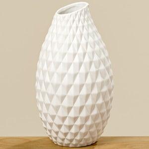 Bílá kameninová váza Bolze Haddi