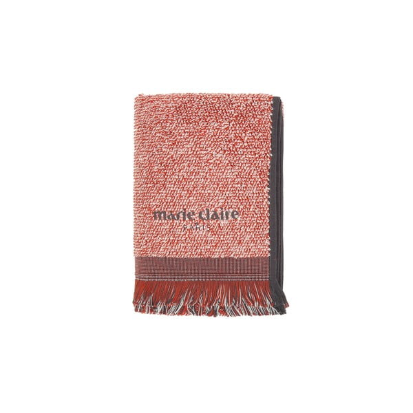 Zestaw 2 czerwonych ręczników Marie Claire Colza, 50x90 cm