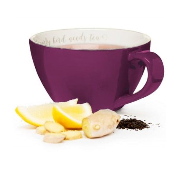 Fioletowy ceramiczny kubek Sagaform I Love My Tea, 0,7l