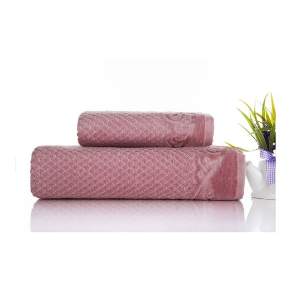 Sada 2ks ručníků Acustic Rose, 50x90 cm a 70x140 cm