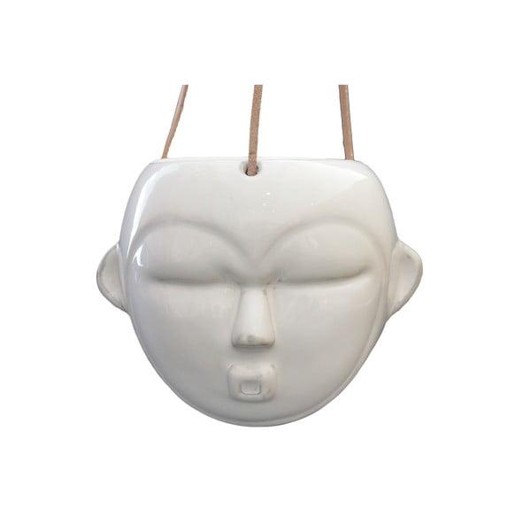 Ghiveci suspendat PT LIVING Mask, înălțime 15,2 cm, alb