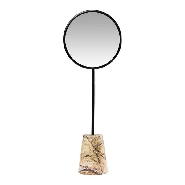 Oglindă pentru masă , cu baza de marmură, Kare Design Bung, Ø20cm