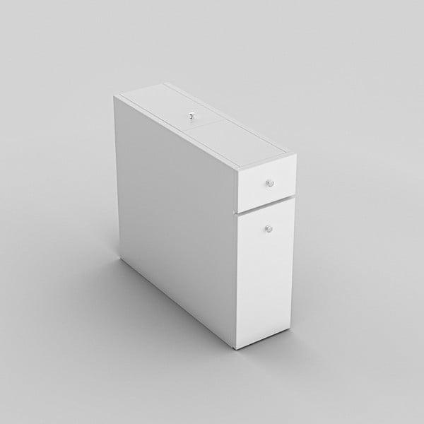 Biela kúpeľňová výsuvná skrinka Garetto Calencia White