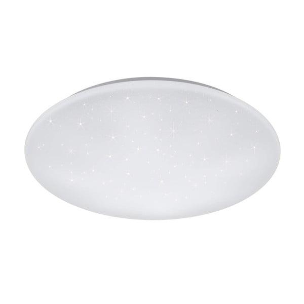 Biała okrągła lampa sufitowa LED Trio Kato, średnica 60 cm