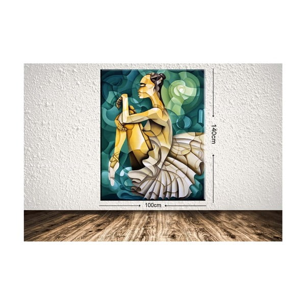 Tablou Tablo Center Geometric Ballerina, 100 x 140 cm