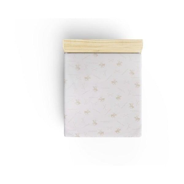 Bavlněné prostěradlo Polo Beige, 240x260cm