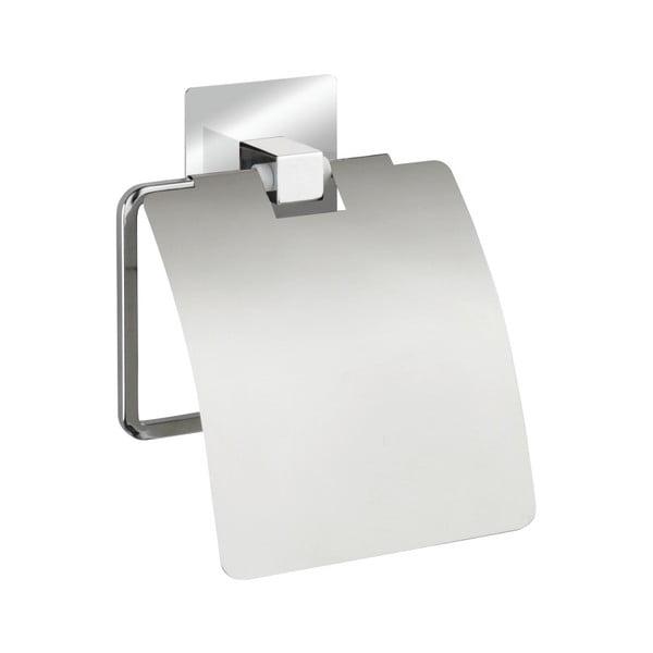 Samoprzyczepny uchwyt na papier toaletowy z klapką Wenko Quadro
