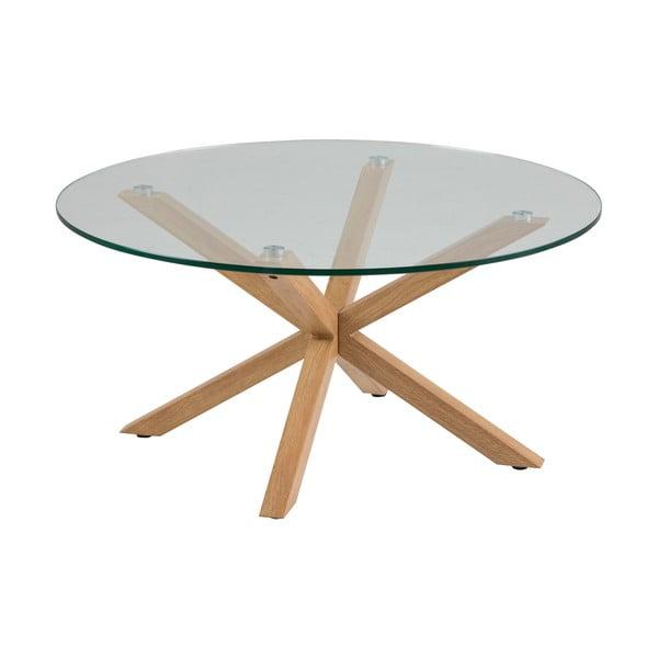 Podręczny stolik ze szklanym blatem Actona Heaven, ⌀ 82 cm