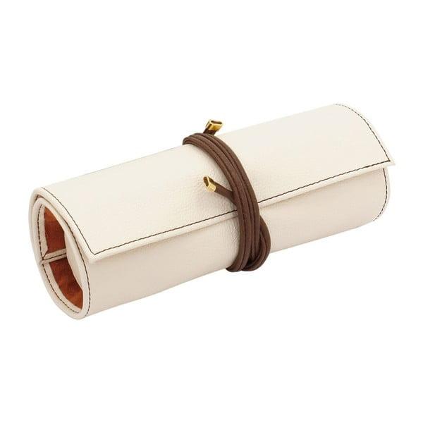 Organizér Ascot Friedrich Lederwaren Roll Ivory White, 20x8x6cm
