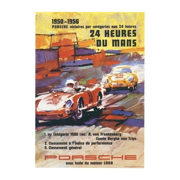 Plakát Porsche  Le Mans 1950-56, 70x50 cm