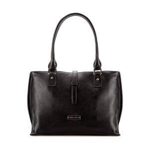 Kožená kabelka Elegance Day Black