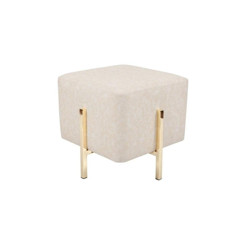 Bílá stolička s nohami ve zlaté barvě Vivorum Liani