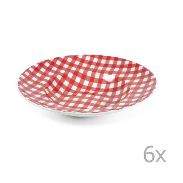 Sada 2 talířů na těstoviny Livia 30.5 cm, červený