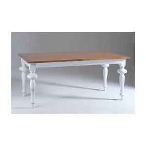 Bílý dřevěný rozkládací jídelní stůl Castagnetti Adeline, 180x90cm