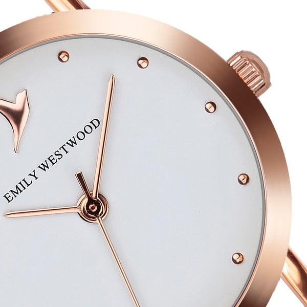 Dámské hodinky s béžovým páskem z nerezové oceli Emily Westwood Vintage