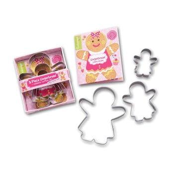 Set 3 forme pentru tăiat aluatul Cooksmart ® Gingerbread Girl imagine