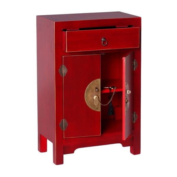 Červený odkládací stolek s úložným prostorem Ixia East