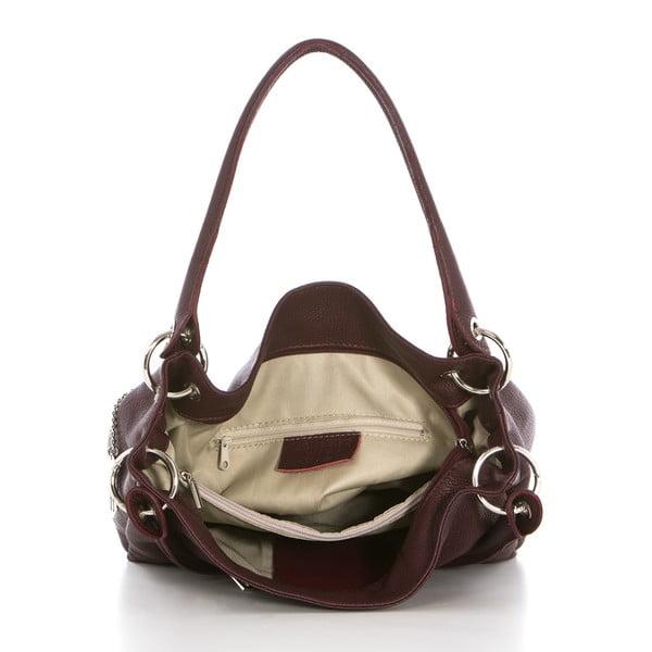 Kožená kabelka Dellio Bordeaux