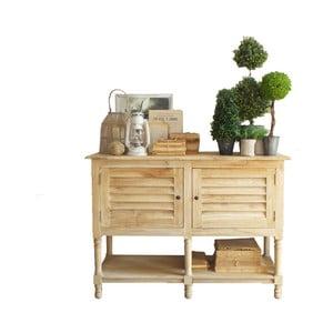 Dřevěný konzolový stolek s úložným prostorem Orchidea Milano Natural Living