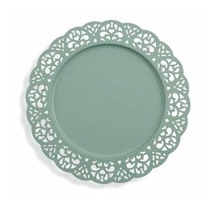 Sada 6 dekorativních modrých kovových talířů Villa d'Este Pierced, ⌀32cm