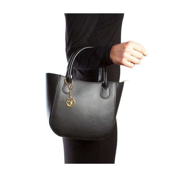 Kožená kabelka Coci, černá