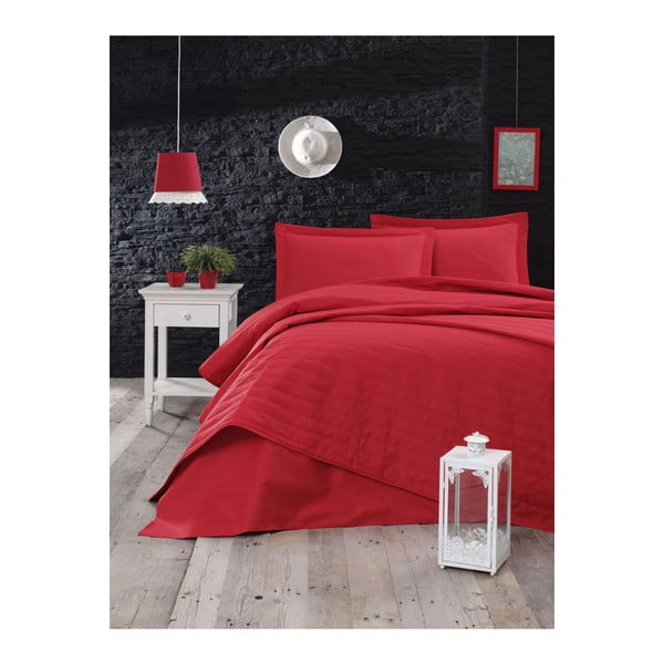 Cuvertură matlasată Mijolnir Monart, 220 x 240 cm, roșu