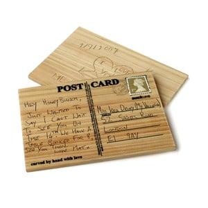 Dřevěné pohlednice Suck UK Carve Your Card, 2 ks