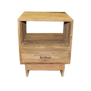 Noční stolek se  zásuvkou z teakového dřeva HSM collection Baliaga