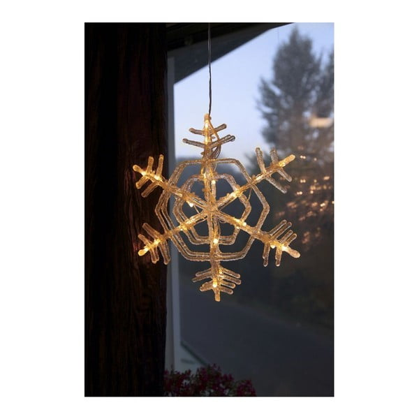 Závěsná svítící hvězda Best Season Crystal Snowflake, 30 cm