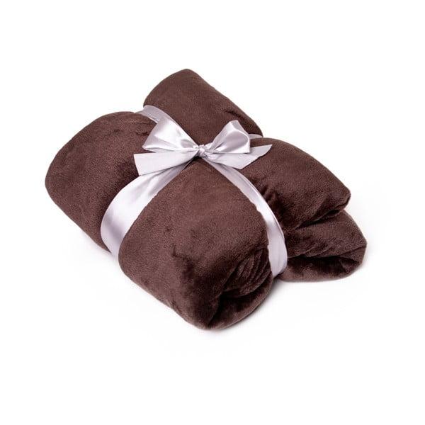 Hnědá deka Tarami, 200 x 150 cm