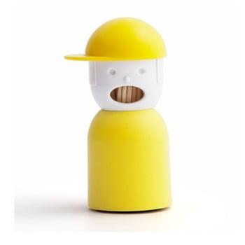 Suport pentru scobitori Qualy&CO Picky Boy, galben imagine