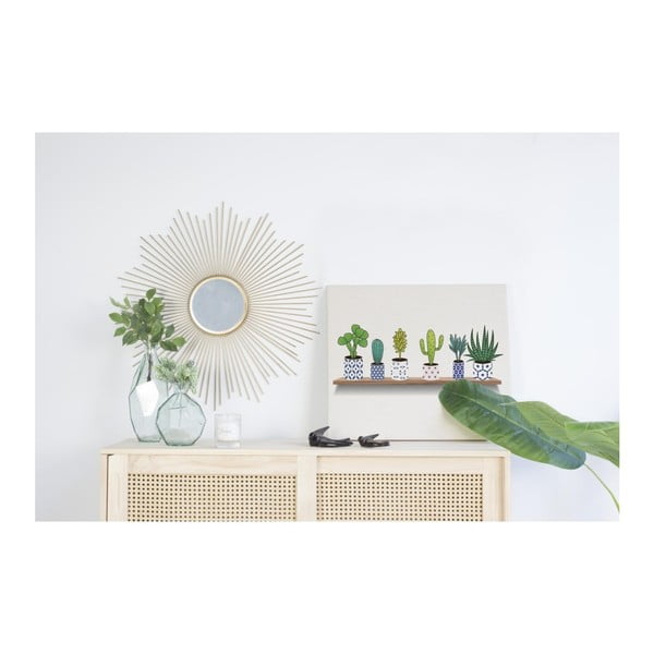 Obraz na plátně Really Nice Things Lino Cactus Shelve, 50 x 70 cm